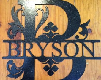 Personal Monogrammed Metal Letter custom made to order.