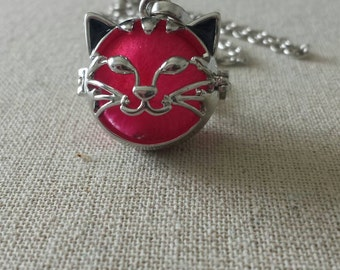 Silver Plated Aromatherapy Cat necklace/Essential oil diffuser/wife/Mother/daughter/Friend/Sister/Trendy 2017 Jewelry/Mothers Day Gift