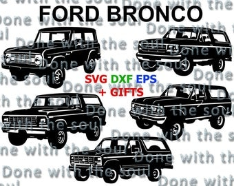 Ford bronco - Ford truck - Ford digital - Ford vector - Car SVG – Car vector - Ford svg - Car cutting files - Car Svg File – Svg dxf eps