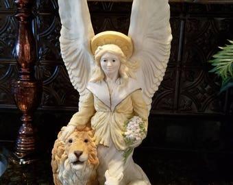 Angel lamb and lion