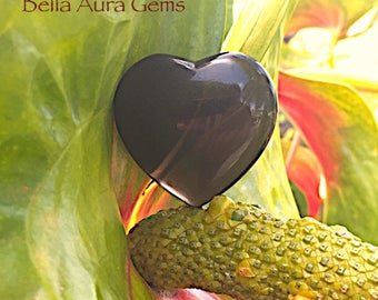 Midnight Lace Obsidian Puffy Heart