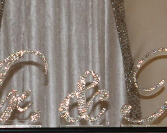 Crystal Mr. & Mrs. Wedding Signs, Wedding sign, Wedding gift idea,