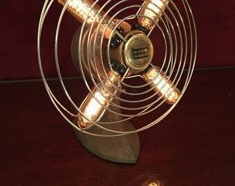 Illuminated Vintage Desk Fan