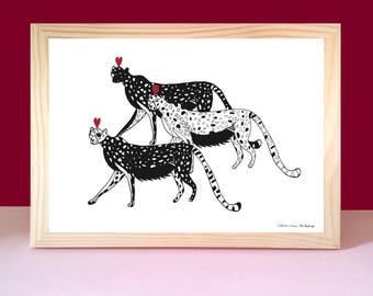 Poster cheetahs