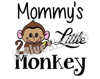 Mommy's Little Monkey svg studio dxf pdf jpg png