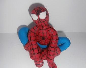 Edible sugarpaste Spiderman cake topper, Decoration,boy,birthday,superhero