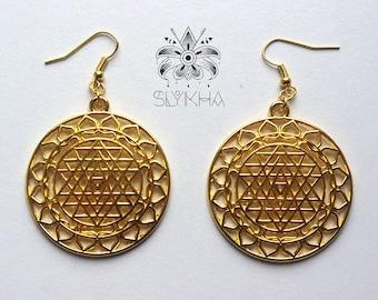 Dabhia tantra intermediation mandala earrings