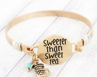 Sweeter Than Sweet Tea Bracelet Wire Accents & Dangle Charms