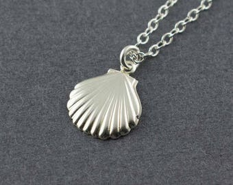 Seashell Charm, Shell Charm, Seashell Jewelry, Silver Shell Necklace, Seashell Necklace