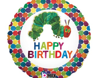 "The Very HUNGRY CATERPILLAR 18"" Mylar BALLOON Happy Birthday Party Supplies Decorations Centerpiece Photo Prop"