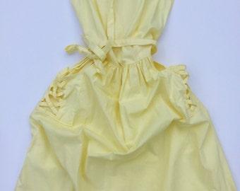 Summer Sunshine Lattice Weave 80s Dress