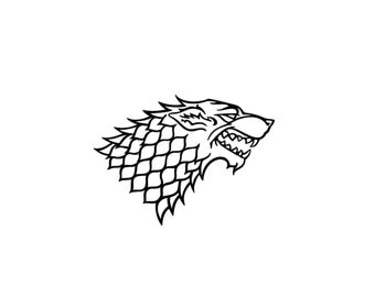 House of Stark Decal - Game of Thrones Decal / House Stark / Direwolf