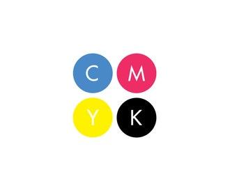 CMYK Vinyl Decal - Wall Decal, Wall Art, Handmade, Vinyl Sticker, Decals