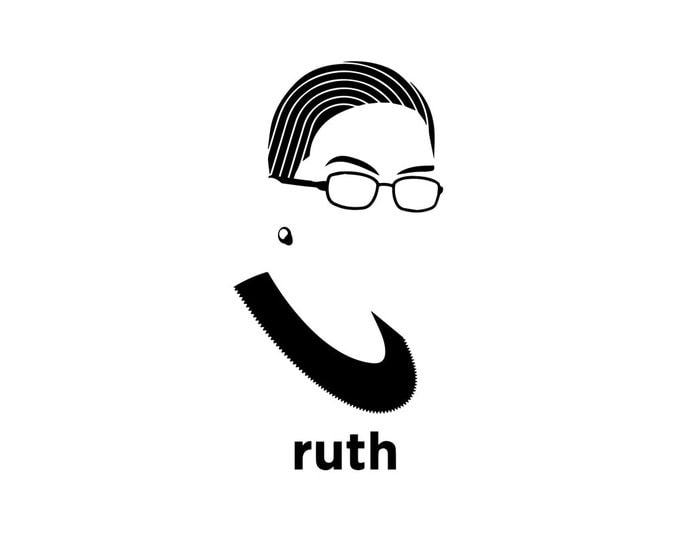 Featured listing image: Ruth Bader Ginsburg Decal - RBG / Notorious RBG / Ruth Bader Ginsburg Art