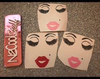 Make up  Deal Decals  Pretty lady