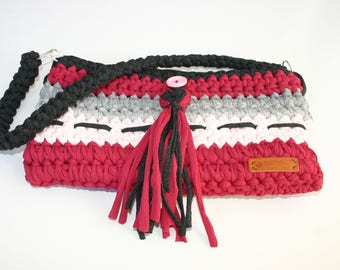 Handbag in cotton t-shirt yarn - Guapi bag