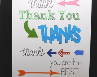 Thank you card, blank inside