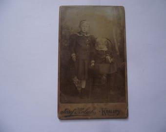 JOSEF HOLUB 1870-1957. KRALUPY Czech Republic. Czech artist cartes de visite