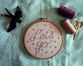 Let's Go Hoop Art, Embroidery Art