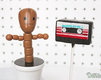 Guardians of the Galaxy Cassette Cake Pops