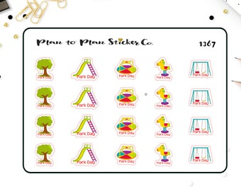 1367~~20 Day at the Park Planner Stickers.