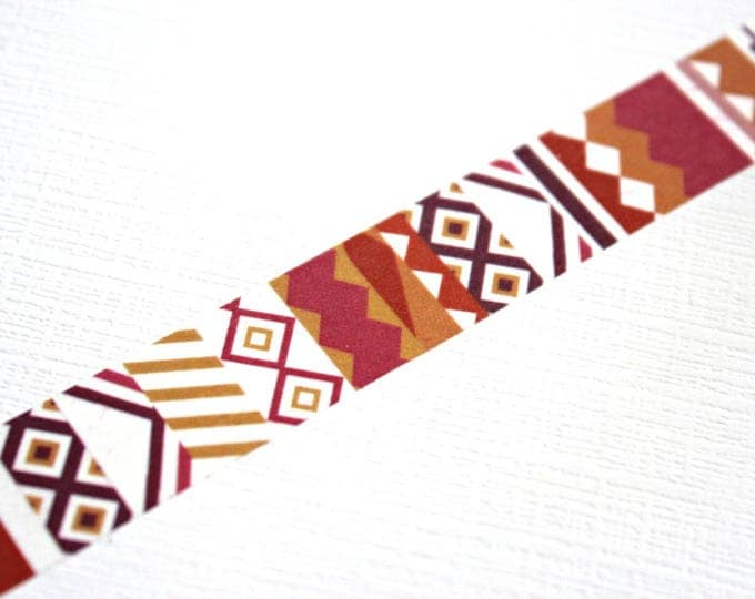 Tribal Washi Tape - Washi Tape - Aztec Washi Tape - Paper Tape - Planner Washi Tape - Washi - Decorative Tape - Deco Paper Tape