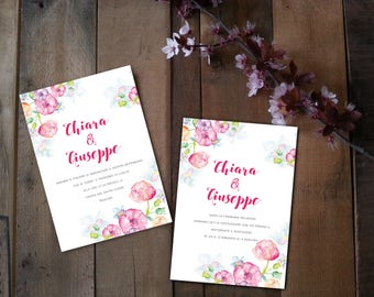 50 set printing wedding invitations. Set printing wedding invitations. Printable wedding kit. Print business cards and invitations.
