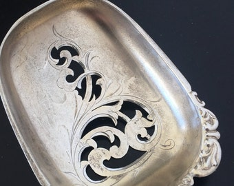 Beautiful Sterling Silver Slotted Serving Spoon Vintage