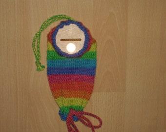 -Mattress - spar tube - hand knitted - money - saving socks gift