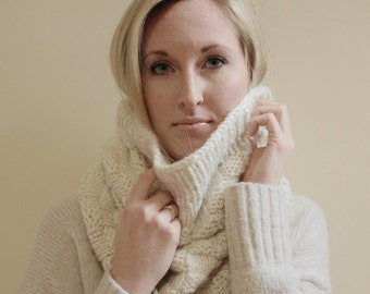 KNITTING PATTERN - Katie Knit Cowl Pattern (Child, Young Adult, Adult Sizes)