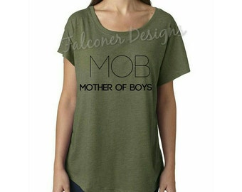 Mob mother of boys shirt, mom shirt, boy mom shirt, mom gift.