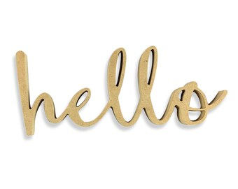 Hello Sign | Hello Wood Sign | Unfinished Word Cutout | DIY Words | Word Cutouts | Word Cut Out