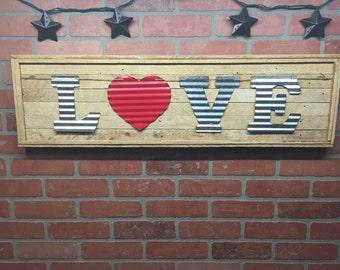 "Rustic ""Love"", wall decor"