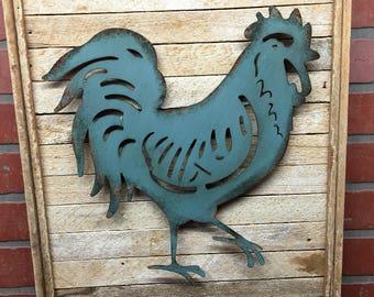 Rooster, Kitchen Rooster, Blue Rooster, Kitchen Decor, Farmhouse, Farmhouse decor