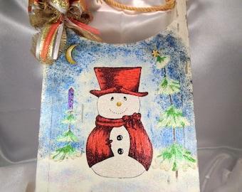 Sled, Christmas Sled, Wood Sled, Christmas Decor, Christmas Door Decor, Snowman Sled, Sled Decoration, Door Hanger, Decorative Sled
