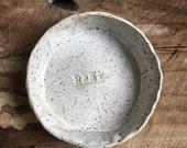 White Meow Stoneware bowl
