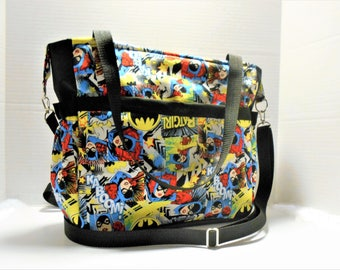 DC Comics Bat Girl Diaper Bag, Large Diaper bag, Batgirl Baby Bag, Bat Girl Tote, Batgirl Shoulder Bag, Bat Girl Handbag, Batgirl Nappy