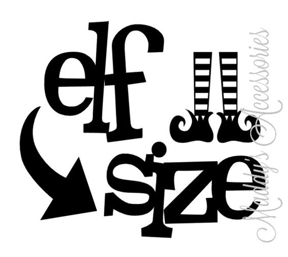 Iron on decal - Elf Size - baby / child clothing accessory