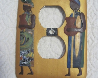 Art Decorated Outlet Cover, Vintage
