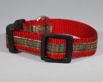 """Buckle """"Christmas Kitty"""" Cat Collar"""