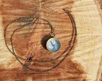Compass Necklace...never get lost again...if you know how to use one!