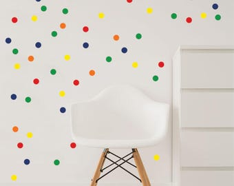 Colorful Confetti Dots Wall Decal