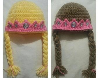 Princess crown with braids
