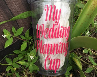 My Wedding Planning Cup , Daughter Engagement Gift , Engagement And Wedding Gift , Present For Daughter In Law ,  Wedding Planner Gift