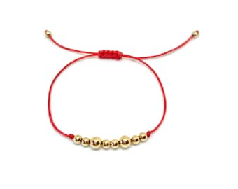 14kt gold plated bead bracelet
