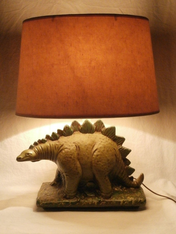 Details About Vintage Dinosaur Table Lamp Pottery Night