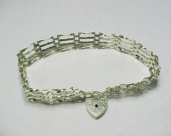 Vintage Delicate Sterling Silver Gate Bracelet
