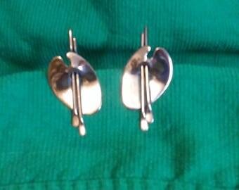 VTG Renoir polished copper earrings