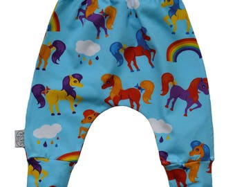 Harem pony panties, baby pants, girls pants