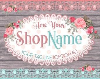 Etsy Shop Banner Set, Premade Etsy Shop Set, Rustic Shop Banner, Wood Etsy Banner, Wooden Shop Banner, Vintage Banner, Premade Avatar,